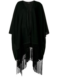 Saint Laurent Fringed Cape Black