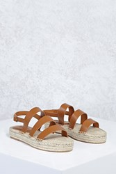 Forever 21 Strappy Espadrille Sandals Tan