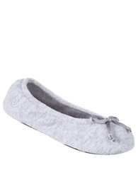 Isotoner Terry Ballet Flat Slippers Heather