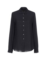 Maison Kitsune Shirts Dark Blue