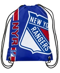 Forever Collectibles New York Rangers Big Logo Drawstring Bag Blue