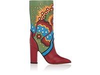 Valentino Women's Enchanted Leather Mid Calf Boots No Color