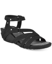 Bare Traps Belina Ankle Strap Wedge Sandals Women's Shoes Black