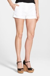 Michael Michael Kors Eyelet Mini Shorts White