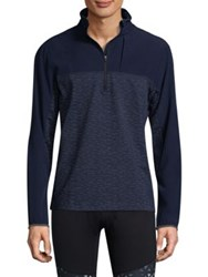 Mpg Panel 2.0 Colorblock Zip Up Pullover Navy Sky Blue Black