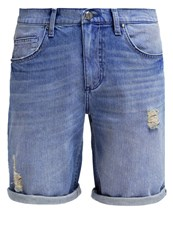 Versace Jeans Denim Shorts Indigo Blue Denim