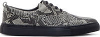 Surface To Air Black Snakeskin Alex Plimsoll Sneakers