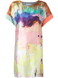 Tsumori Chisato Watercolour Print Dress Grey