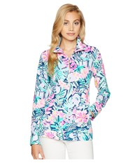 Lilly Pulitzer Upf 50 Skipper Printed Popover Multi Slathouse Soiree Long Sleeve Pullover