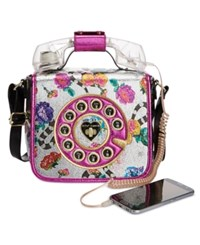 Betsey Johnson Off The Hook Phone Small Crossbody Multi
