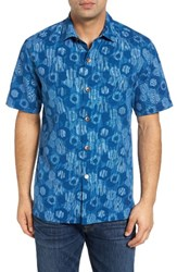 Tommy Bahama Men's Big And Tall Tiles Davis Silk Camp Shirt