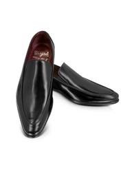 Fratelli Borgioli Black Leather Loafer