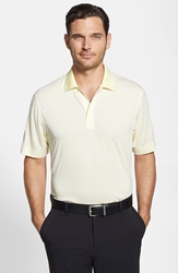Cutter And Buck 'Trevor' Drytec Polo Pale Yellow White