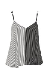 Topshop Mixed Stripe Camisole Top Monochrome