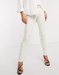 French Connection Jeans In White Grey