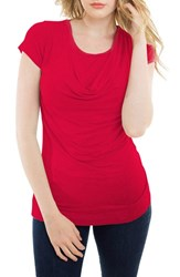 Women's Nurture Elle Cowl Neck Short Sleeve Nursing Top