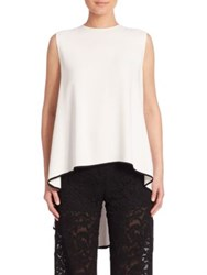 Adam By Adam Lippes Sleeveless High Low Top Ivory Black