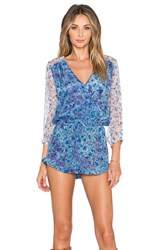 Gypsy 05 Printed Romper Blue