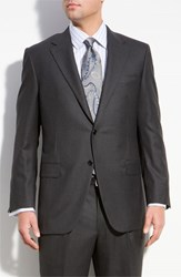 Men's Hickey Freeman 'Addison A Series' Wool Suit Grey