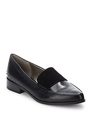Saks Fifth Avenue Lorena Metal Trim Shoes Black