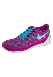 Nike Performance Free 5.0 Lightweight Running Shoes Fuchsia Flash Clearwater Pink