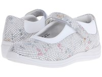 Drew Shoe Rose White Floral Snake Print Leather Women's Shoes