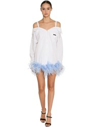 Prada Off The Shoulder Ostrich Feather Dress Array 0X588be08