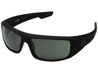 Spy Optic Logan Soft Matte Black Happy Gray Green Sport Sunglasses
