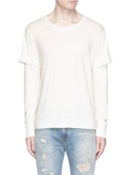 Nsf 'Liam' Long Sleeve Underlay T Shirt White