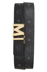 Mcm Men's Reversible Signature Leather Belt