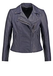 Muubaa Leather Jacket Navy Blue