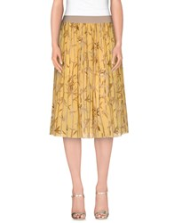 Les Copains Skirts 3 4 Length Skirts Women Yellow