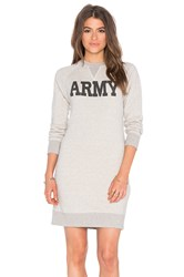 Nlst Army Sweatshirt Dress Gray
