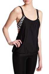 Next Barre To Beach Double Up Tankini Black