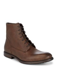 Black Brown Leather Ankle Boots Cognac