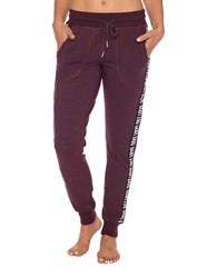 Betsey Johnson Give Love Get Logo Sweatpants Divine Wine