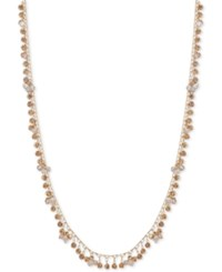 Lonna And Lilly Gold Tone Shaky Disc Bead Strand Necklace 32 3 Extender Ivory