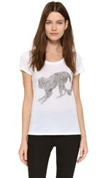 Tess Giberson Monkey Tee White Black