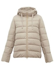 Herno Hooded Quilted Down Jacket Beige