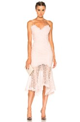 Nicholas Guipure Lace Cocktail Dress In Pink