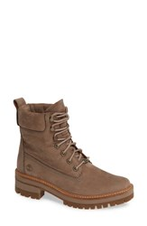 Timberland Courmayeur Valley Water Resistant Hiking Boot Taupe Grey Nubuck