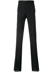 Givenchy Eyelet Check Trousers Black