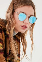 Urban Outfitters Cut It Out Half Frame Sunglasses Blue