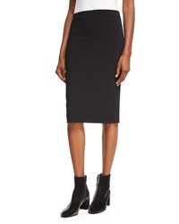 Vince Fitted Jersey Pencil Skirt Black