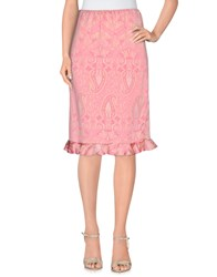 Laltramoda Skirts Knee Length Skirts Women Pink