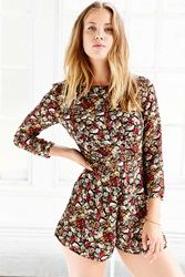 Lucca Couture Floral Chiffon Long Sleeve Romper Floral Multi