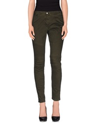 Pinko Black Casual Pants Military Green