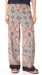 Theory Rye Ridge B Wide Leg Pants Multi