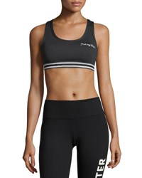 Spiritual Gangster Warrior Athletic Performance Sports Bra Black