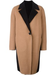 Fausto Puglisi Panelled Coat Brown
